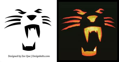 10 Free Halloween Scary And Cool Pumpkin Carving Stencils
