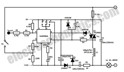 Touch Light Dimmer Circuit
