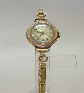 Rolex 9ct Gold Ladies Wrist Watch - Wrist watches - Clocks ...