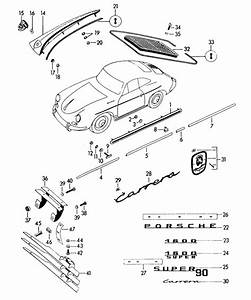 Porsche 356a Moulding For Rocker Panel 64455901107