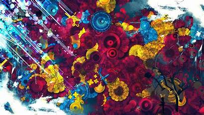 Designs Wallpapers Background Laptop Colorful Spray Paint