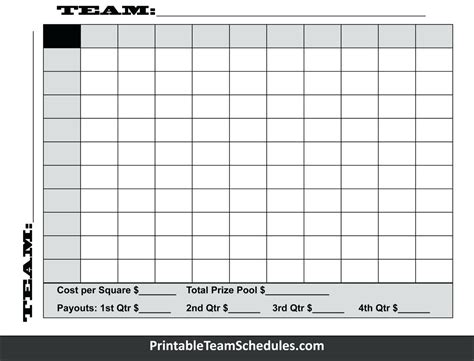Bowl Squares Template Bowl 100 Squares Template Its Your Template