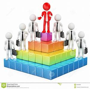 Hierarchy Structure Template Business Hierarchy In Company Concept With Businessmen
