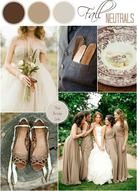 neutral wedding colors neutral fall wedding color ideas link
