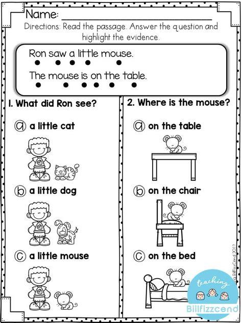 reading comprehension  early reader kindergarten