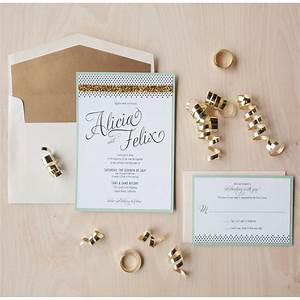 Modern glam wedding invitation gold glitter invitation mint for Minted navy wedding invitations