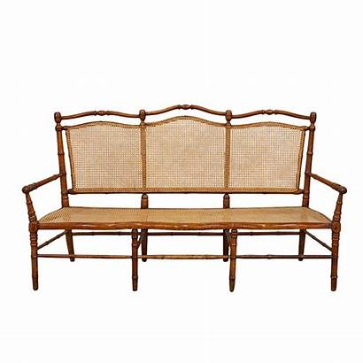 Bench Bamboo Cane Decaso Victorian Faux French