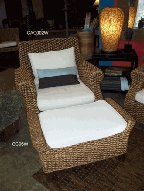 seagrass furniture water hyacinth chair and ottoman