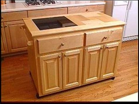 kitchen island without top a roll away kitchen island hgtv
