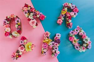 fresh floral letters hooray mag With fresh flower letters