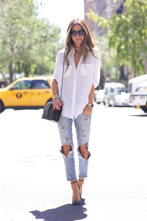 20 Ways To Wear A White Button Down Shirt 2018 | Become Chic