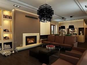 Wohnzimmergestaltung Mit Tapeten : wohnzimmergestaltung braun ~ Sanjose-hotels-ca.com Haus und Dekorationen