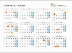 Feiertage 2018 Polen Kalender & Übersicht