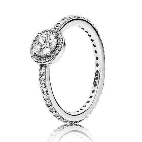 pandora silver cubic zirconia classic elegance ring 190946cz the hut