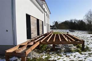 terrasse bois sur pilotis m aub39s construction With plan terrasse bois sur pilotis