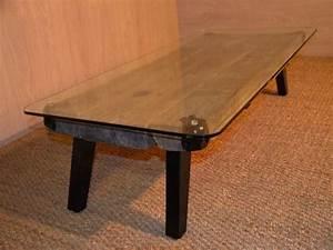 Table Basse Metal Verre : table basse en bois m tal et verre metal glass wood coffee table recyclart ~ Mglfilm.com Idées de Décoration