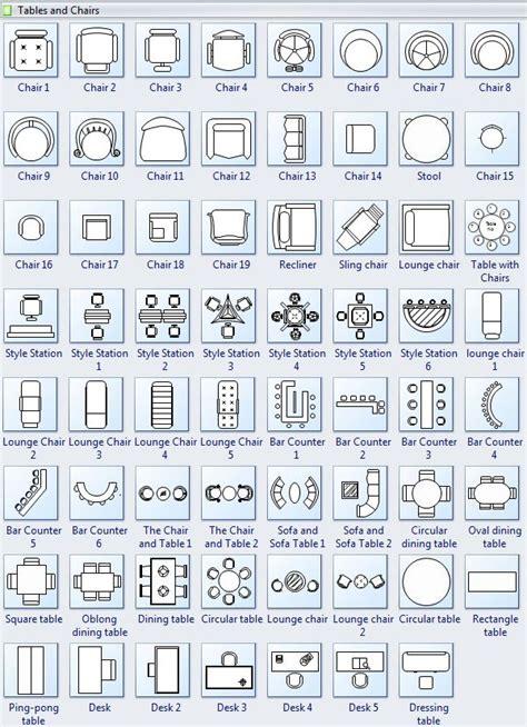 tables  chairs symbols  floor plan floor plan
