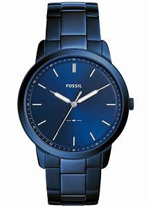 fossil fs5461 the minimalist blue stainless steel
