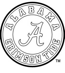 Alabama Crimson Tide Football Coloring Pages