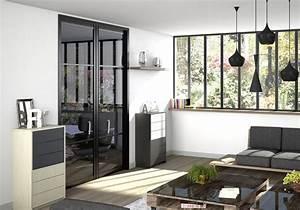 dressing porte placard sogal modele de porte With porte d entrée alu avec luminaire salle de bain industriel