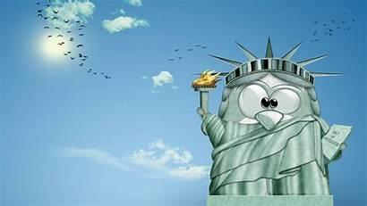 Cartoon Funny Wallpapers Cartoons Computer 3d Liberty