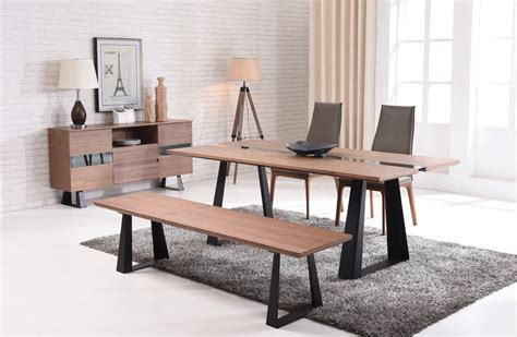 modern dining table legs modern walnut and glass dining table on black mate legs