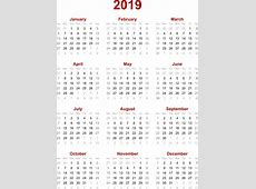 2019 Calendar Pdf yearly printable calendar