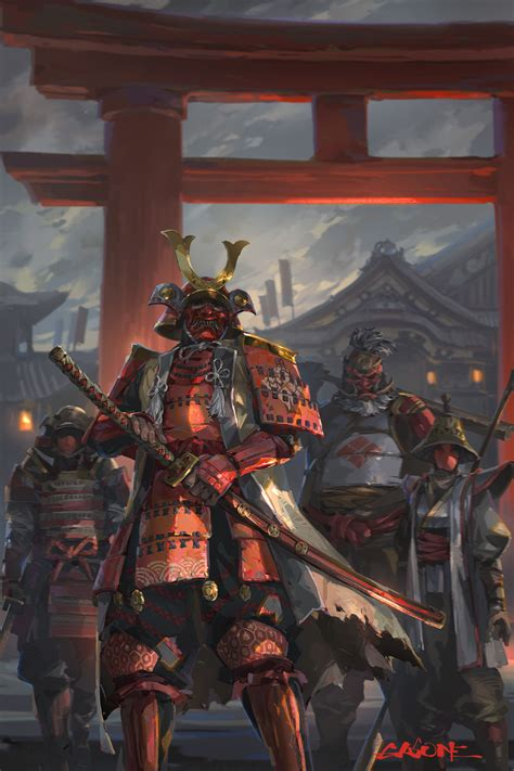 samourai siege artstation fan of the shengyi sun