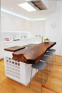 Plan De Travail En Bois : cuisine bois plan de travail cuisine en bois brut ~ Dailycaller-alerts.com Idées de Décoration