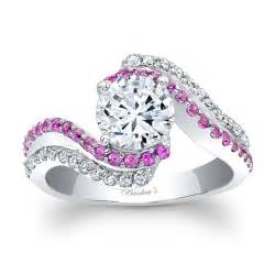 and pink sapphire engagement ring 14kt white gold barkev 39 s engagement ring with 0 56 ct in diamonds and pink