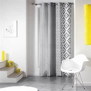 Rideau Salon Gris : rideau 140 x h260 cm esteban gris rideau tamisant eminza ~ Teatrodelosmanantiales.com Idées de Décoration