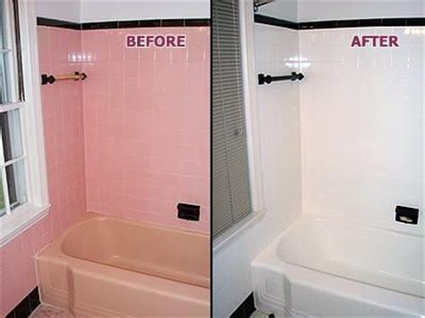 Painting Bathroom Tiles Before And After by Painting Bathroom Tiles Picture Pink Tub Tile