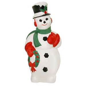 christmas lighted decorations christmas blow molded snowman with wreath decoration made in