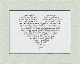 Poem From Mother to Daughter On Wedding Day