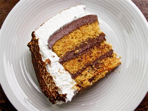 ideas  food  smores meet  smores cake