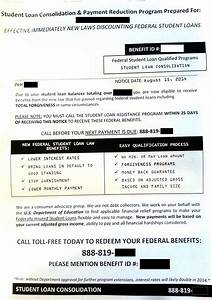 Student loan consolidation cottage industry grows with for Federal student loan programs letter