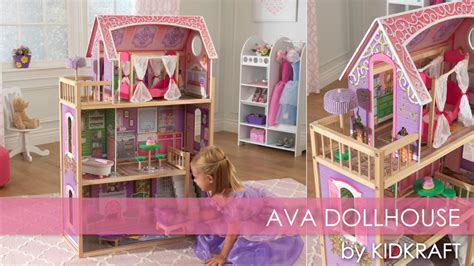 Girls Ava Dollhouse For American Girl & Barbie  Toy