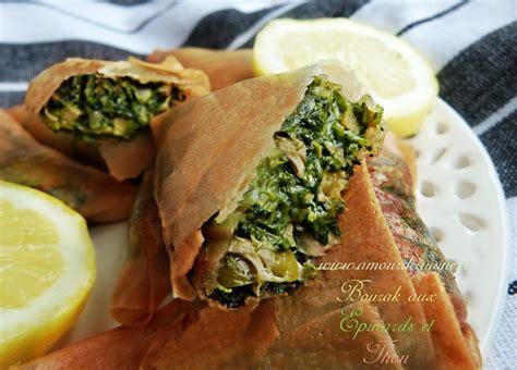 recettes de cuisine boureks aux epinards et thon amour de cuisine