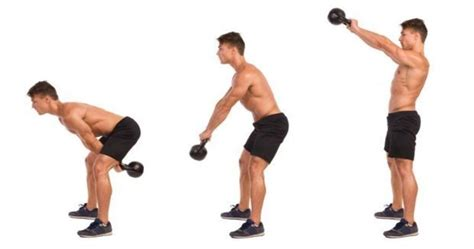 kettlebell swing exercise arm illustrated guide exercises