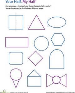 Draw Lines of Symmetry Worksheet