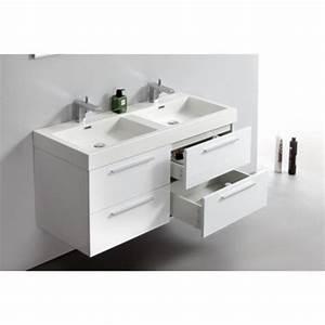 Meuble Salle De Bain Double Vasque 120 Cm : double vasque 100 cm ~ Edinachiropracticcenter.com Idées de Décoration