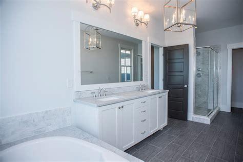 wood  tile transitional bathroom modern organic