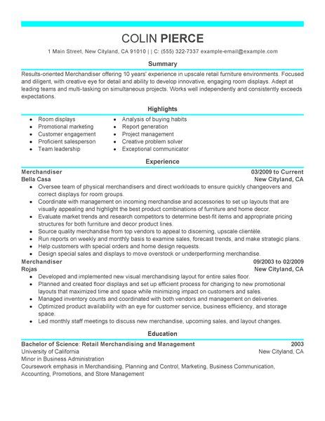 best merchandiser retail representative part time resume