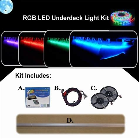 Deck Boat Lights by Rgb Led Underdeck Pontoon Boat Light Kit