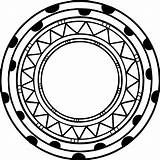 Aztec Circle Coloring Shape Pages Wecoloringpage Head sketch template