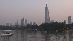 Timelapse Of Zifeng Tower And Xuanwu Lake By Night ...