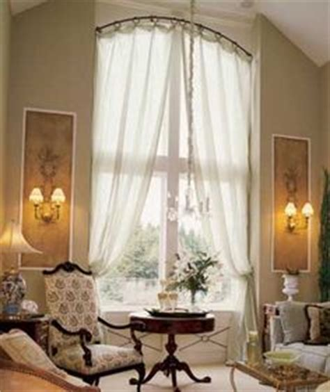 curved curtain rod for arched window treatments 1000 ideas about arched window curtains on