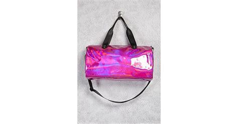Forever 21 Holographic Duffle Bag In Pink