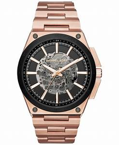 Michael kors Men's Automatic Wilder Rose Gold-tone ...