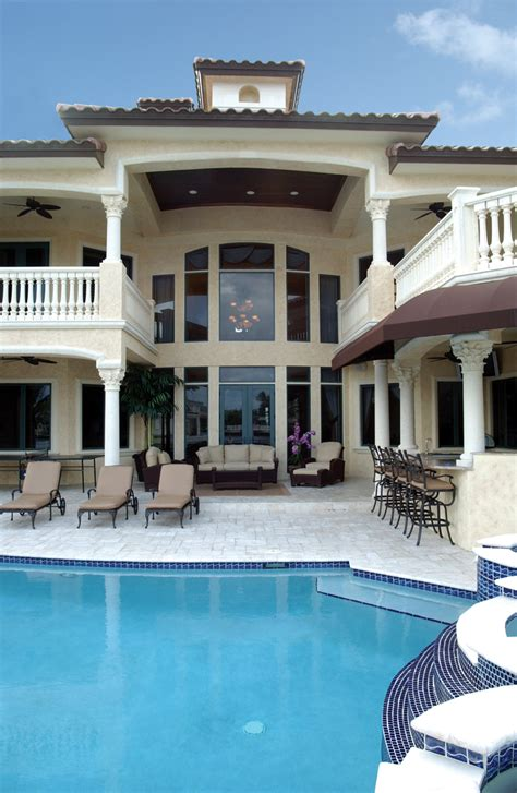 luxury house plans with pools santa fe house plan pool photo plan 106s 0070 house plans and more